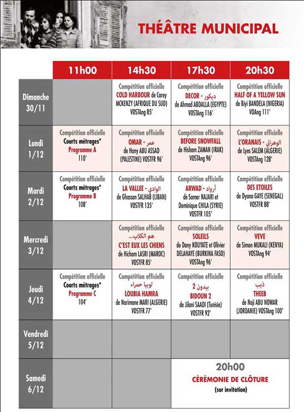 Programme salle cinema tunis 28 images cin 233 ma for Europe carrelage nanterre