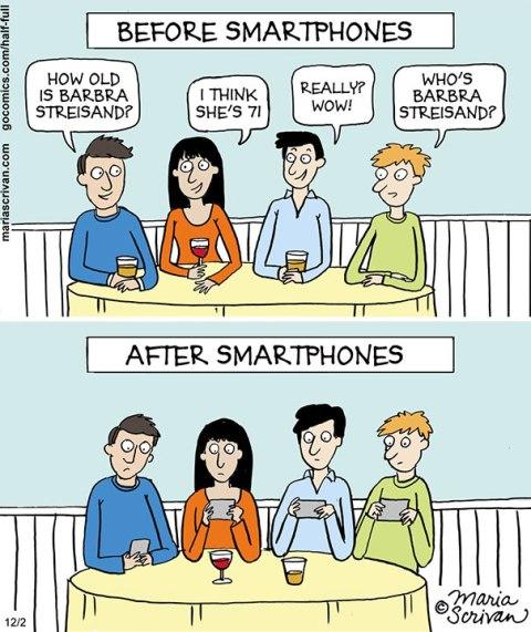 after befor smartphone