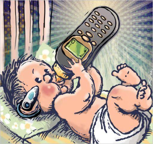 bébé smartphone