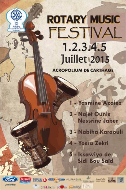 rotary music festival affiche