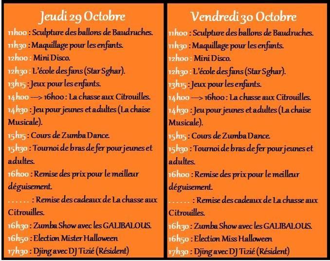 programme halloween 1