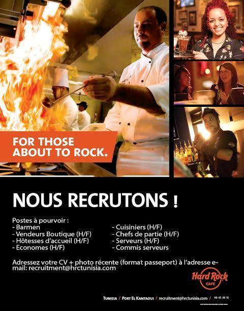 affiche recrutement hard rock café