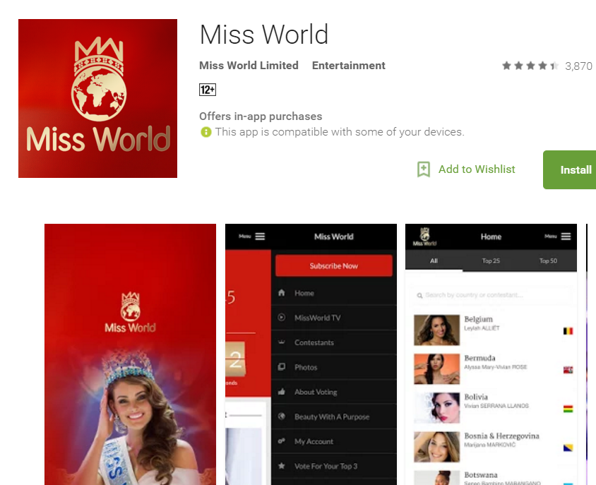 Miss World   Android Apps