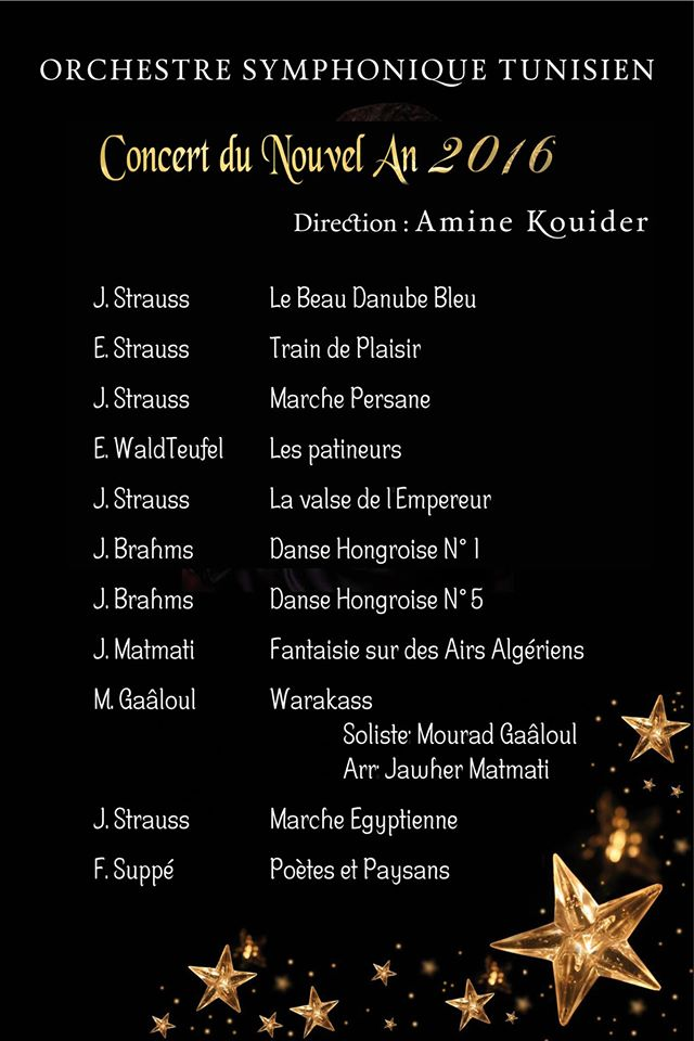 programme concert nouvel an 2016
