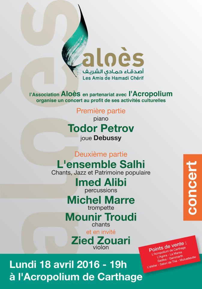 concert aloès affiche