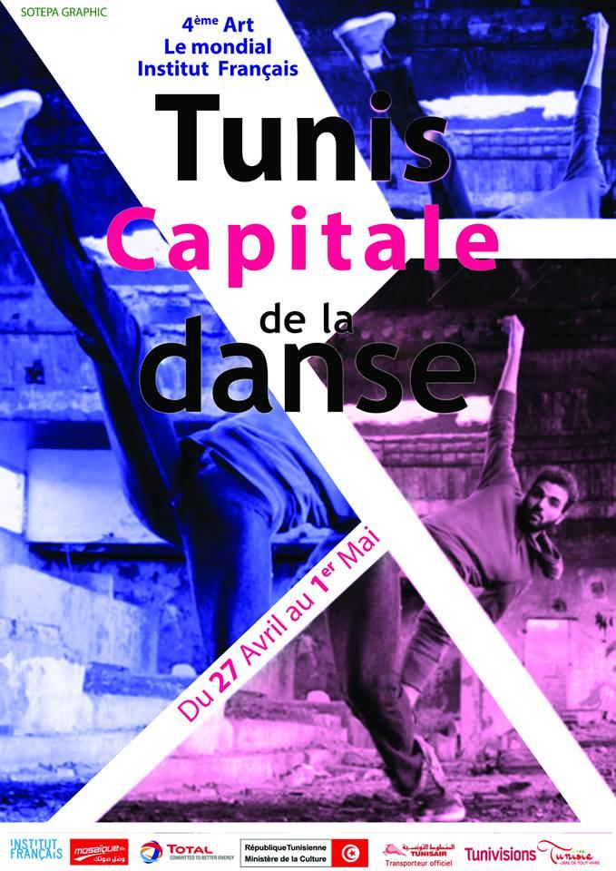 tunis capitale de la danse affiche