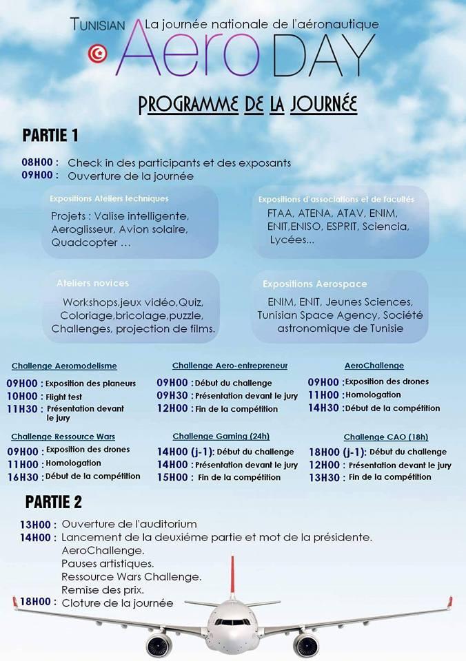 programme tunisian aeroday 2016