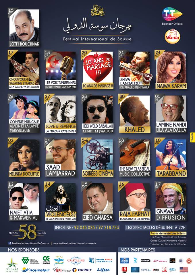 festival sousse 2016 artistes