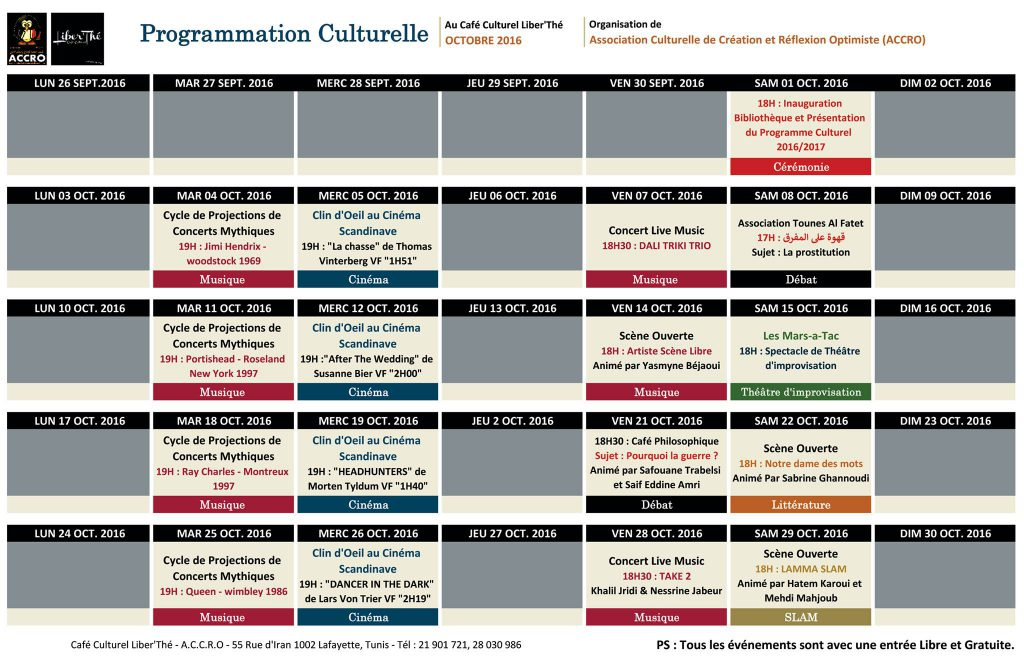 programme culturell accro