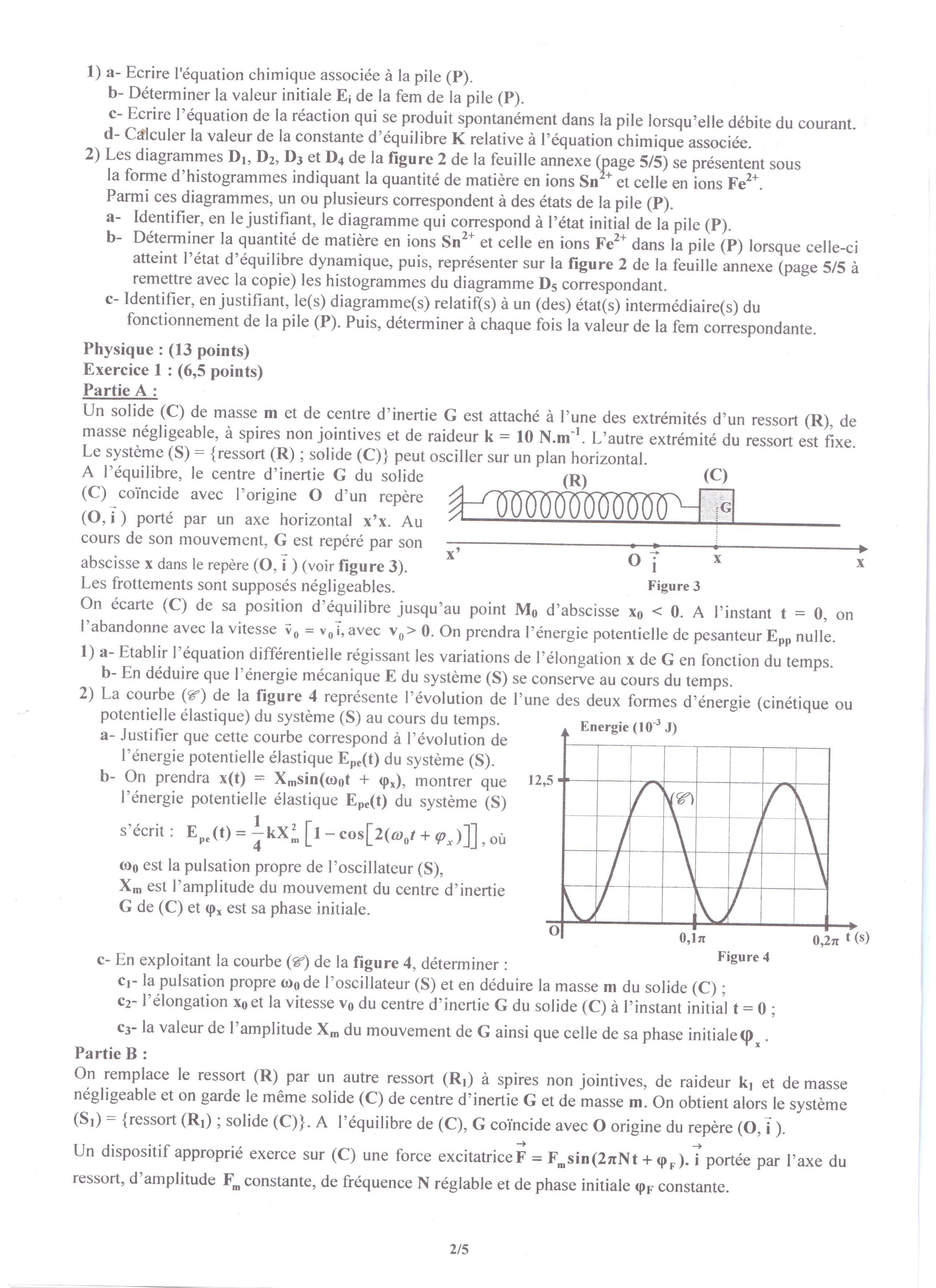 tunisie bac 2017 preuve physique pour les sections maths sciences et techniques tekiano. Black Bedroom Furniture Sets. Home Design Ideas