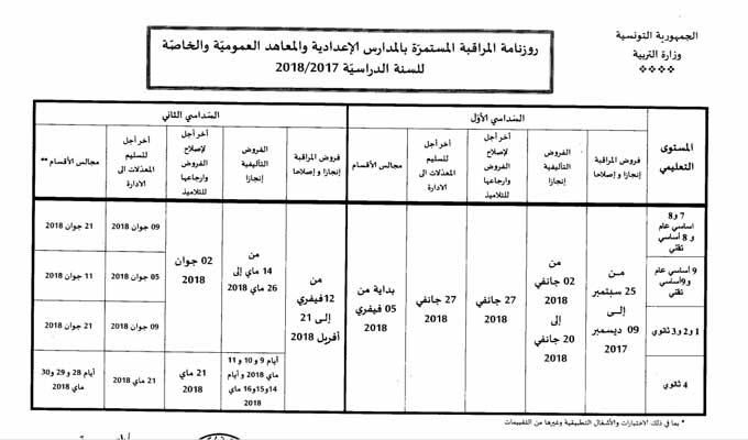 Calendrier Des Examens Du 1er Et 2e Semestre Pour L Annee Scolaire