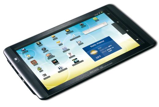 les tablettes tactiles archos sous android debarquent en tunisie