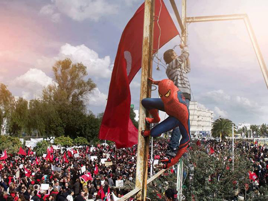 spider-man-manif-tunisie