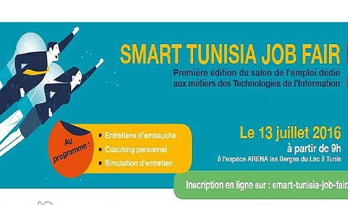 Salon de l 39 emploi smart tunisia it job fair le 13 juillet jeunes dipl m s en it postulez en - Salon recrutement ingenieur ...