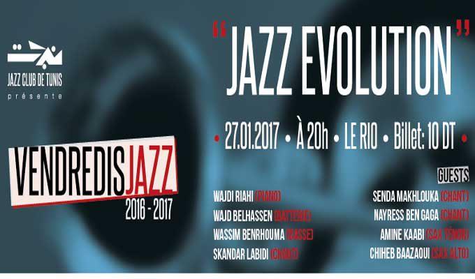 projet musical jazz evolution par le jazz club de tunis le 27 janvier au rio tekiano tek. Black Bedroom Furniture Sets. Home Design Ideas